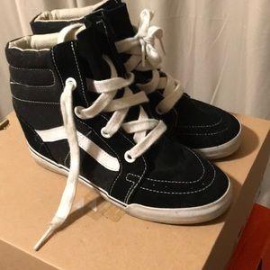 Black suede wedge Vans